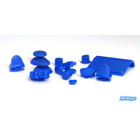 Replacement Buttons Blue Custom Mod Kit For PS4 Controller Solid Color
