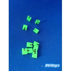 10pcs 2.54mm Pitch Short-Connect Cap Jumper Green