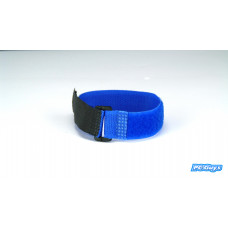 1 x Blue 20cm Velcro Style Hook and Loop Tie Down LiPo Battery Strap