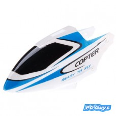 WLtoys RC Helicopter V911-1 Canopy Head Cover Blue and White