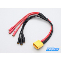 XT60 to 3 X 3.5mm Bullet Multistar ESC Power Breakout Cable Quad