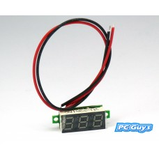 DC 3-30V 0.36 2 Wire LED Digital Panel Voltage Voltmeter Car Motor RED