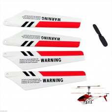 4 x Red Blades Syma S107 S107G Gyro Remote Control Helicopter Spares Repair Set